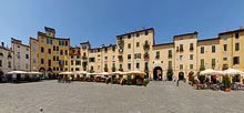 Lucca, Piazza Anfiteatro Panoramic view
