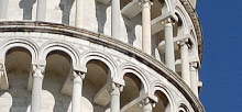 Pisa, Leaning Tower, 360� Panoramic photo, Cathedral, Baptistry